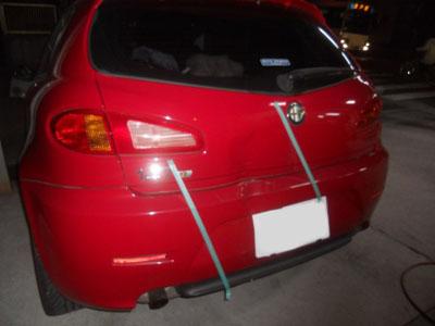 アルファロメオ147 保険修理でしたので、お車にとって一番良い修理方法で!
