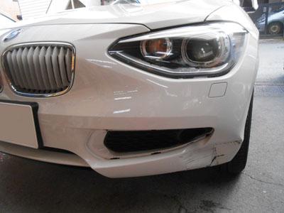 BMW 1シリーズ フロントバンパー交換