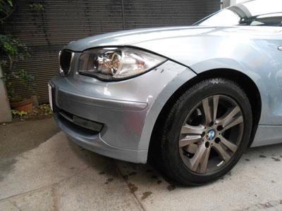 BMW 1シリーズ ディーラーなら交換!佐藤自動車は加工で対応!修理出来ます!!
