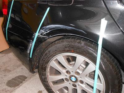 BMW 3シリーズ 対物保険なので、最良の方法でご修理。