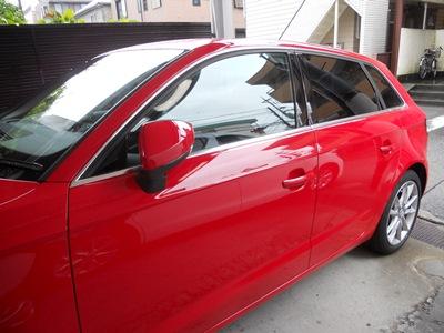 アウディA3 フロントドア板金塗装