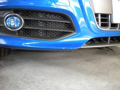 アウディ・S4のバンパー修理