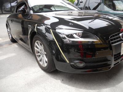 アウディ・TT  フロントフェンダーの交換
