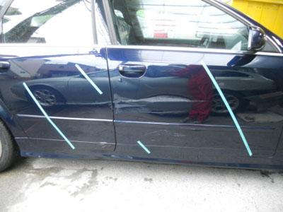アウディ・A4 板金塗装、交換修理、キャッシュバック付きでお得です!!