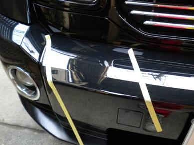 ダッチ フロントバンパー交換 車両保険