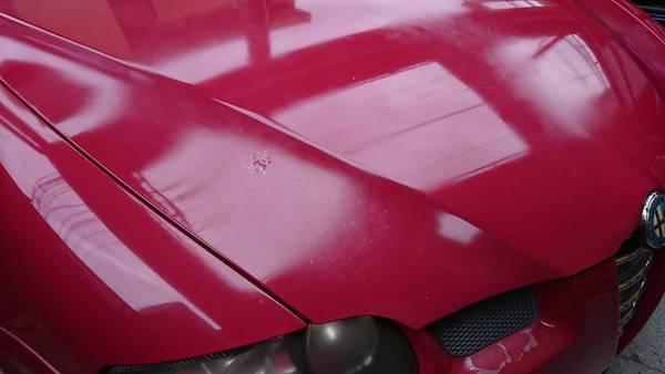 アルファロメオ/塗装剥がれの修理塗装