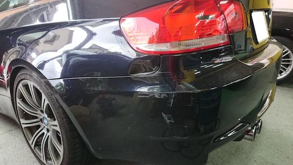 BMW・M3/バンパーを脱着して修理