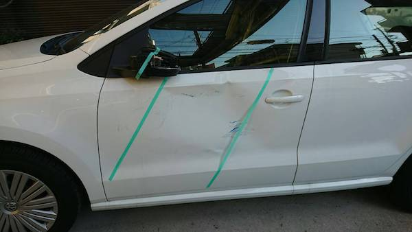 ドア交換で警告灯が!車検に通らない可能性が。