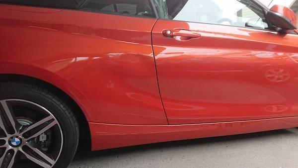 BMW2シリーズ、ドアとクォーターパネルの板金塗装