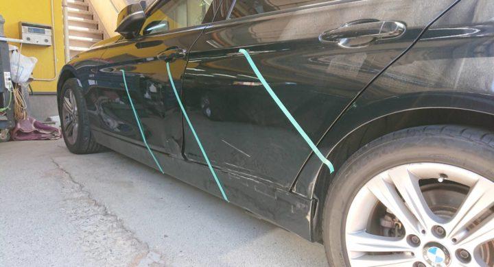 BMW3シリーズ/外から見てもわからない凹みまで板金塗装