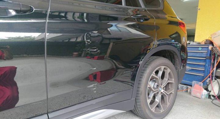 BMWX1/大きな損傷も交換ではなく修理で直します