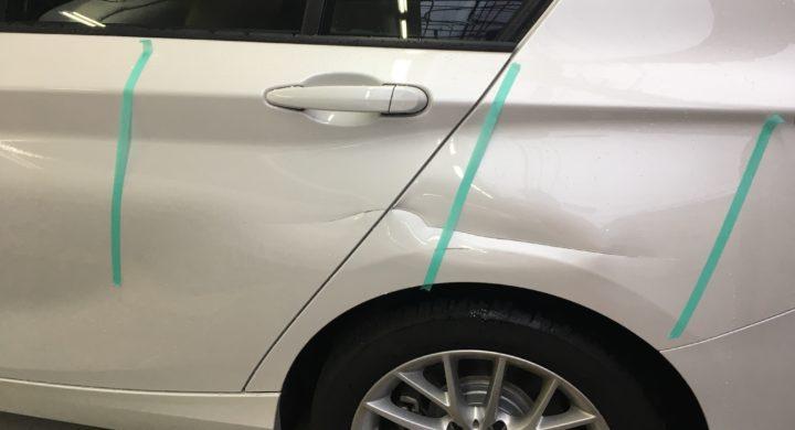 BMW・1シリーズ/保険修理!リヤドア交換とクォーター修理。