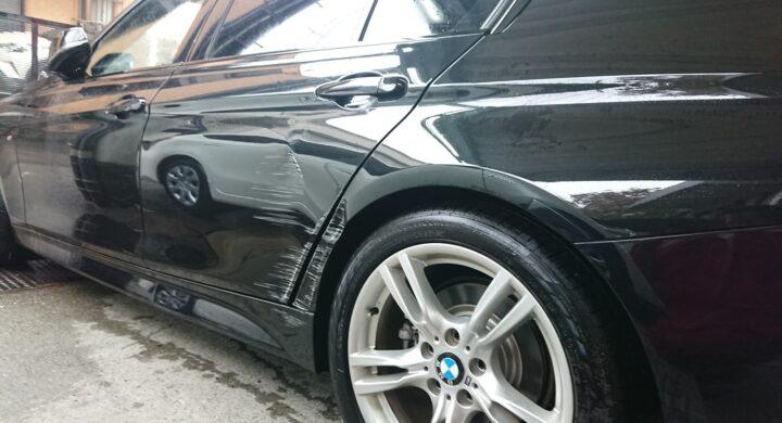 BMW3シリーズ/交換レベルの損傷もしっかり板金塗装で直します