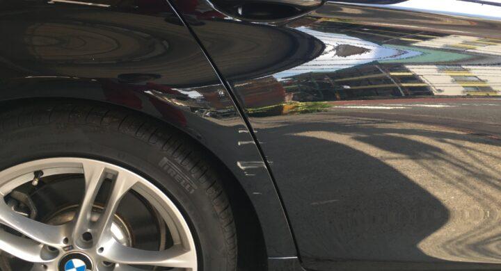 BMW5シリーズ/アーチラインもキレイに板金修理で元通り!