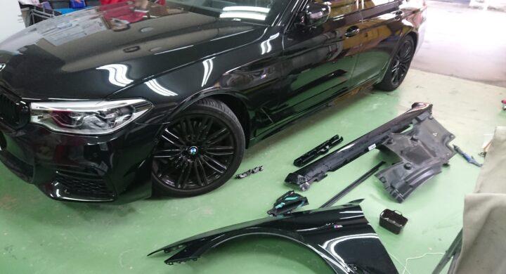 BMW5シリーズ まかせて安心保険修理!