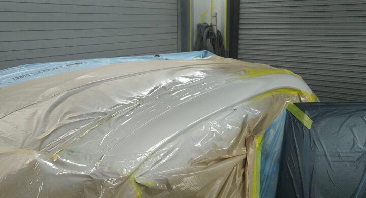 シトロエン/ルーフサイドパネルの損傷修理